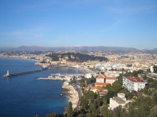 Nice Mont-Boron, le célèbre Boulevard Franck Pilatte, le Boulevard Maeterlink, l'Avenue Jean Lorrain, le Bd Mont-Alban et le Bd Cap de Nice