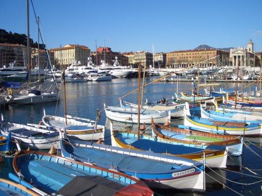 Port de Nice, rue Cassini, rueBonaparte, Place Garibaldi, Quai des deux Emmanuel Quai lunel et Bassin Lympia